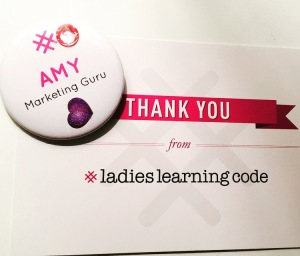 Girls Learning Code Swag